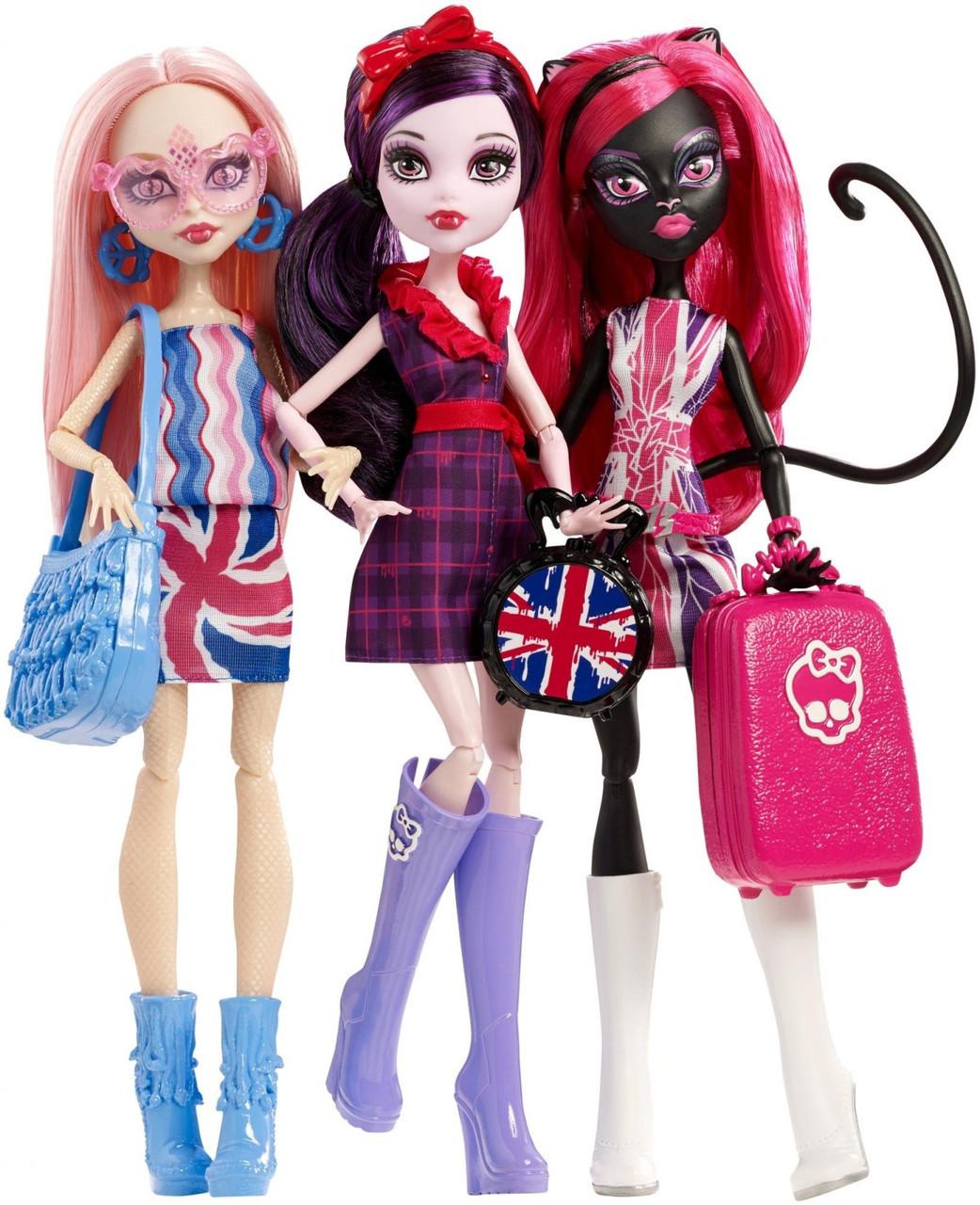Набор кукол Монстер Хай из серии Монстрозвезды в Лондуме, Monster High Ghoulebrities in Londoom.