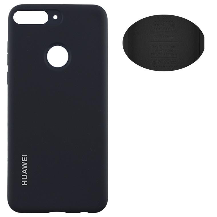 Чехол Silicone Cover Huawei Honor 7C Pro, Nova 2 Lite, Y7 2018, Y7 Prime 2018 черный