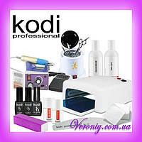 Стартовый набор для покрытия ногтей гель лаком Kodi с фрезером Lina 25000