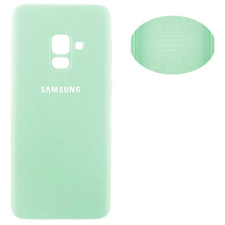 Чехол Silicone Cover Samsung A8 2018 A530 бирюзовый