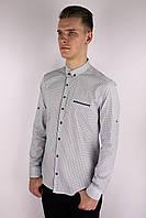 Мужская приталённая рубашка белая Турция 2401