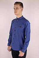 Мужская приталённая рубашка джинсовая Турция 2400