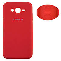 Чехол Silicone Cover Samsung J7 2015 J700, J7 Neo J701 красный