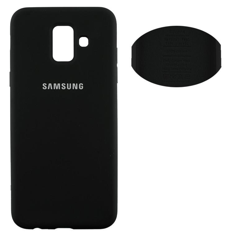 Чехол Silicone Cover Samsung J8 2018 J810 черный