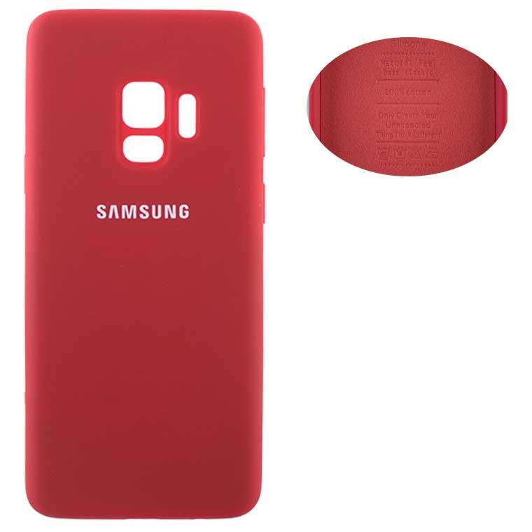 Чехол Silicone Cover Samsung S9 G960 красный