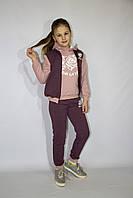 Детский спортивный костюм тройка на девочку  (Украина) , 98-104-110-116 рост