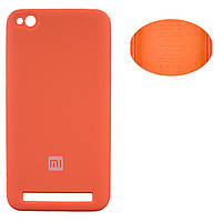 Чехол Silicone Cover Xiaomi Redmi 5A оранжевый