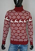 Мужской свитер красный Турция 2364