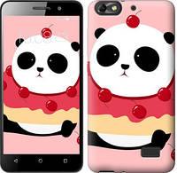 Чехол EndorPhone на Huawei Honor 4C Панда с пончиком 3991c-183-19016 (hub_MYcH43205)