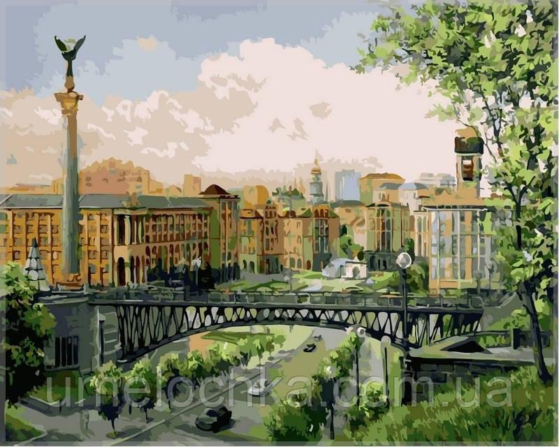 Картина по номерам на холсте Babylon Майдан Незалежности