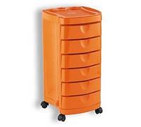Тележка парикмахерская Ciak оранжевая