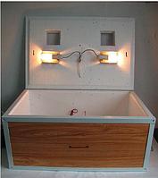 Инкубатор Курочка Ряба с механическим переворотом 100 яиц  цифровой  обшитый пластиком с вентилятором., фото 1