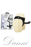 Страпон Baile Ultra Harness Curvy Dildo с изогнутой головкой