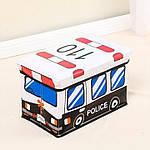 Пуф-ящик для игрушек Полицейский автобус Berni