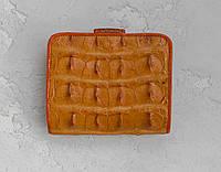 Кошелек из кожи крокодила Ekzotic Leather оранжевый (cw 99)