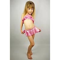 """Купальник раздельный """"Розовый гламур"""" с юбочкой - пляжная одежда для детей, туники, панамы, рубашки"""