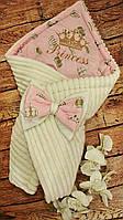 Конверт - плед на выписку с вышивкой Принцесса, фото 1