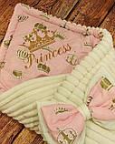 Конверт - плед на выписку с вышивкой Принцесса, фото 2