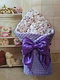 Двухсторонний конверт весна-лето-осень для новорожденных   78*78 см, фото 6