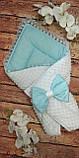 Двухсторонний конверт весна-лето-осень для новорожденных   78*78 см, фото 9