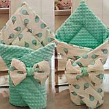 Двухсторонний конверт- одеяло, утеплен синтепоном,  78*78см, фото 6