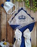 Красивый конверт на выписку с  вышивкой Принцесса, фото 5