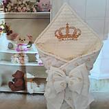 Красивый конверт на выписку с  вышивкой Принцесса, фото 7