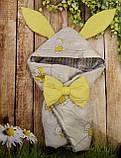 Конверт с капюшоном  и ушками  для  новорожденных Мишка, фото 7