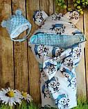 Конверт плюшевый  на выписку с ушками  для  новорожденных Мишки, фото 5