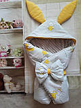 Конверт плюшевый  на выписку с ушками  для  новорожденных Мишки, фото 9