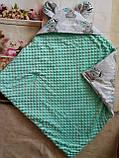 Конверт плюшевый  на выписку с ушками  для  новорожденных Мишки, фото 10