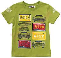 """Футболка для мальчика детская """"Номерные знаки"""" """"Wanex"""", Зеленый, 98(92-122), 98 см"""