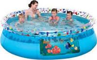 Круглый наливной бассейн привлекательного дизайна
