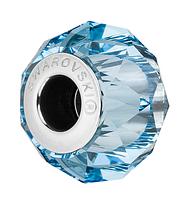 Хрустальные бусины Pandora от Swarovski 5948 Aquamarine (упаковка 12 шт)