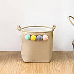 Корзина для игрушек, белья, хранения Помпоны Berni