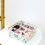 Органайзер для хранения Розовый Кактусы (28 х 28 х 12 см. / 9 ячеек) Berni