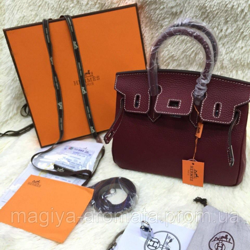4648070765d8 Хит Женская сумка Кожа Hermes Birkin Гермес Биркин 35 см марсала Original  quality - Магия Аромата