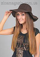 Широкополая шляпа (коричневая)