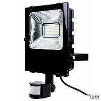 Светодиодный прожектор LightProm 50W-4200K с датчиком движения (0059)