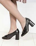 Шикарные эксклюзивные женские туфли из итальянской кожи с бантом, фото 7