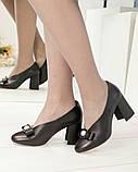Шикарные эксклюзивные женские туфли из итальянской кожи с бантом, фото 2