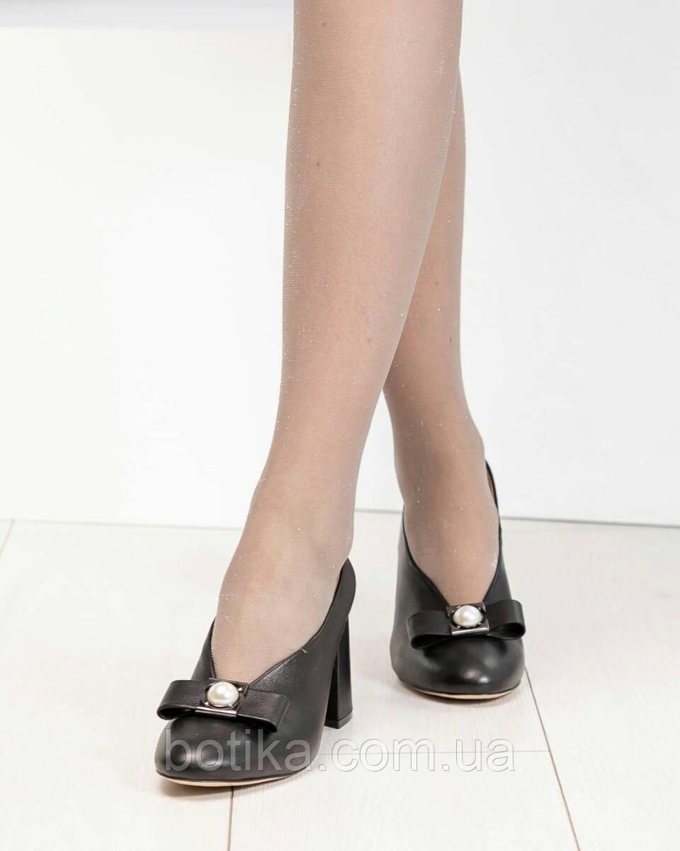 Шикарные эксклюзивные женские туфли из итальянской кожи с бантом