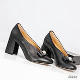 Шикарные эксклюзивные женские туфли из итальянской кожи с бантом, фото 3