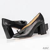 Шикарные эксклюзивные женские туфли из итальянской кожи с бантом, фото 8
