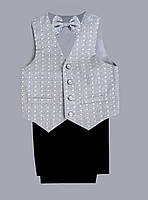 Нарядный фирменный костюм-тройка Sotalia collection с бабочкой для мальчика на 4-5 лет  качество СУПЕР, фото 1