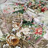 Винтаж 10092-2, павлопосадский платок (крепдешин) шелковый с подрубкой, фото 2