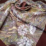 Жемчужный берег 853-57, павлопосадский платок шерстяной  с шелковой бахромой, фото 2