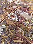 Жемчужный берег 853-57, павлопосадский платок шерстяной  с шелковой бахромой, фото 4