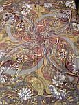 Жемчужный берег 853-57, павлопосадский платок шерстяной  с шелковой бахромой, фото 5