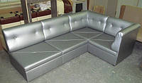 Мягкий уголок для офиса складывающийся из пуфиков, Мягкая мебель